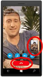 Phone communication app UI