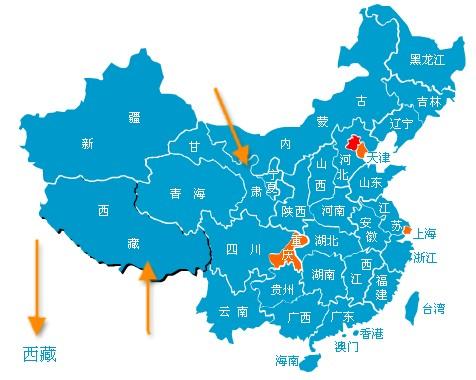 一款功能强大的中国地图特效图片