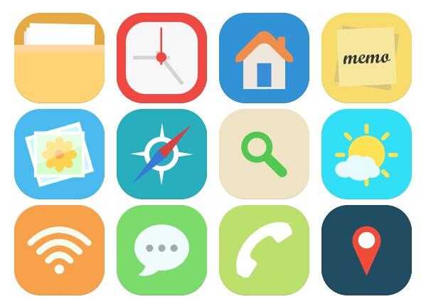 圆角app手机默认应用png图标