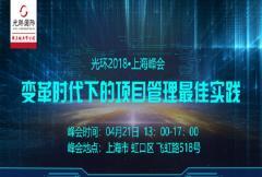 2018《变革时代下的项目管理实践》上海峰会