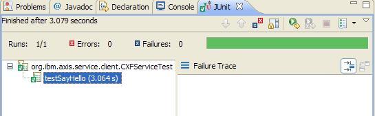 图 2. Junit service 测试结果