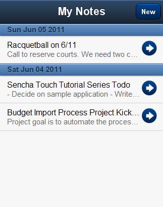 Sencha Touch Application