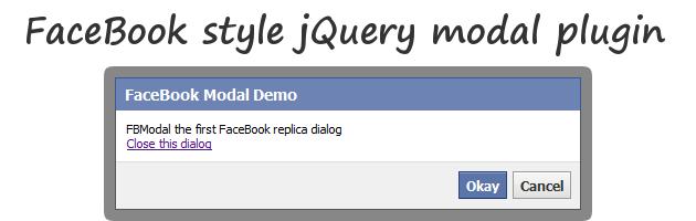 类Facebook风格的对话框 FBModal
