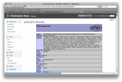 wordpress administration tool