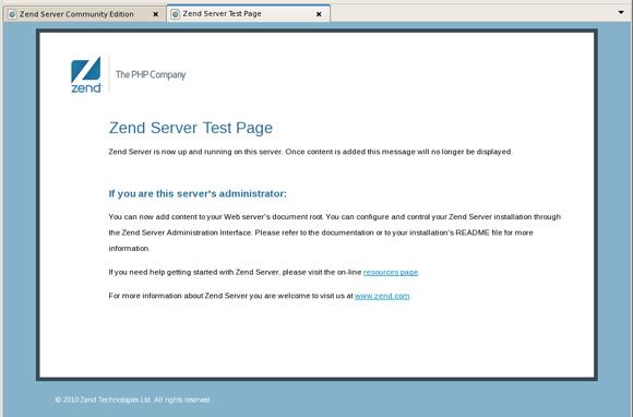 Zend Server Test Page