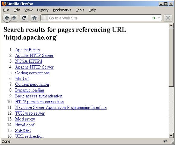 Web 页面截屏展示引用特定 URL 的页面:httpd.apache.org