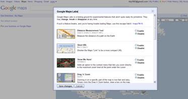 图 2. Google Maps 网站上弹出的对话框