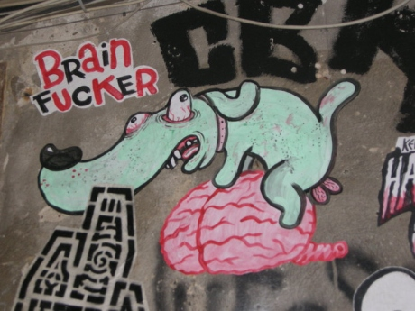 The BFS mascot? Found on a wall in Berlin Mitte...