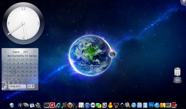 Der Desktop von UniOS