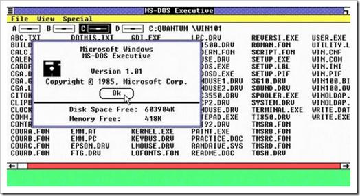 MS-DOS Executive in Windows 1.0