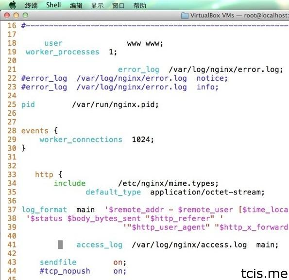 让 Vim 支持 nginx 语法(syntax) 格式化配置文件