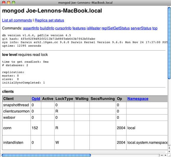 MongoDB 诊断
