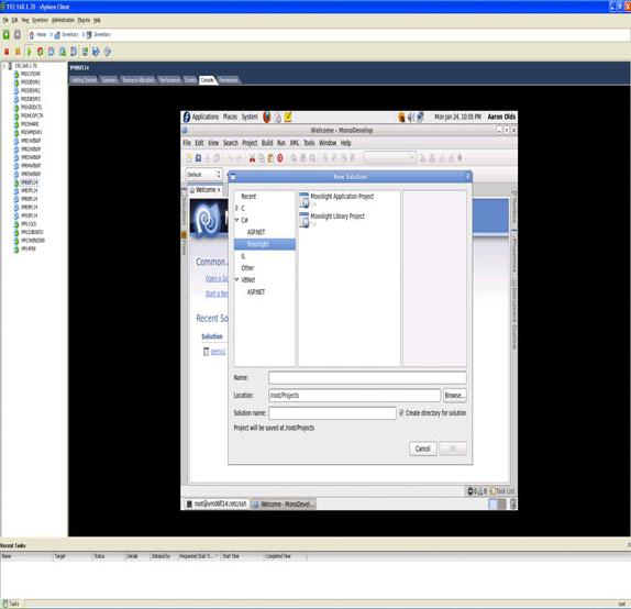 monodevelop IDE 的截屏