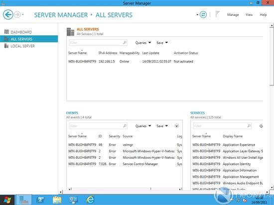 Windows Server 8:截图+新变化
