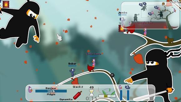 仿百战天虫免费游戏 Warmux
