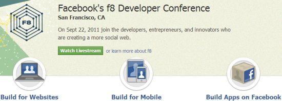 Facebook今晚将召开f8开发者大会