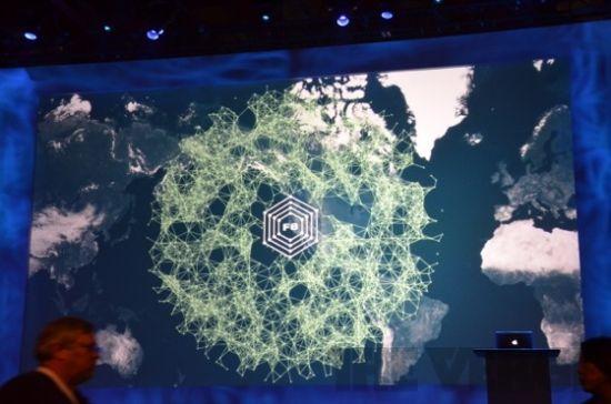 大屏幕上的f8大会标示