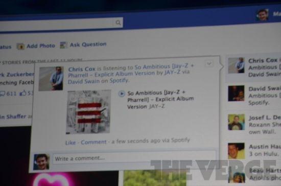 Facebook整合了在线音乐服务