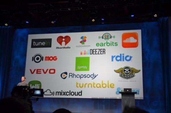 Facebook音乐服务的合作伙伴