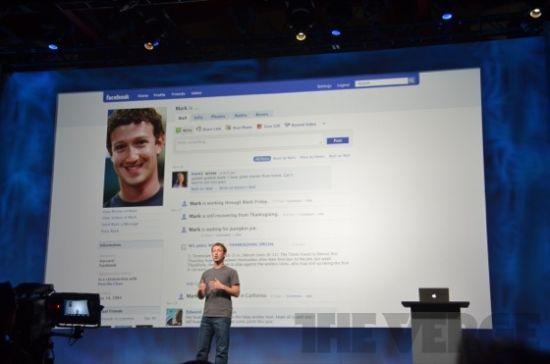 扎克伯格的Facebook个人资料页面