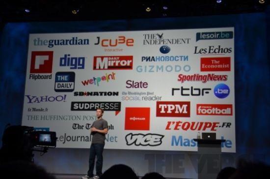 Facebook的媒体合作伙伴