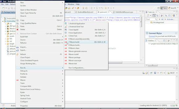 配置 Maven 运行配置的屏幕截图