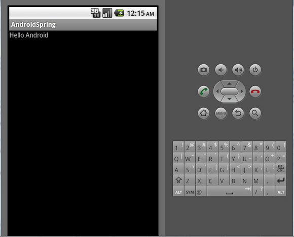 来自运行 Spring Android 客户端的文本响应的屏幕截图