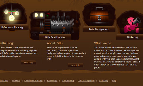 Footer 23 in 25 Creative Examples of Footer in Web Design