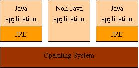 图 4. 多个 Java 应用使用不同的 JRE