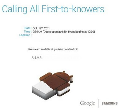samsung google event Watch Google Ice Cream Sandwich Event Live Online