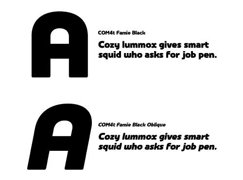 COM4t Famie Black font
