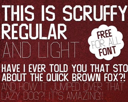 Scruffy font