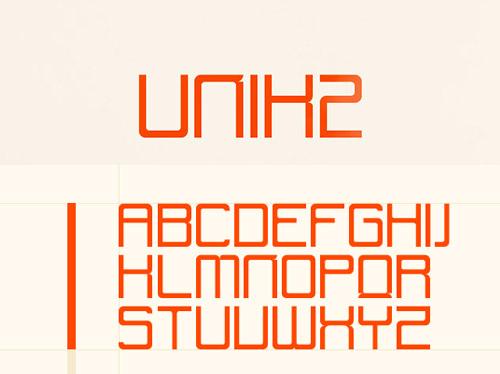 UNIK2 font