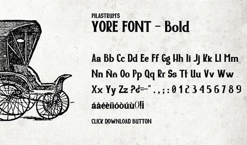yore font