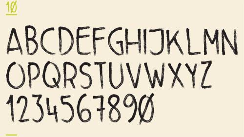 Little Brush font