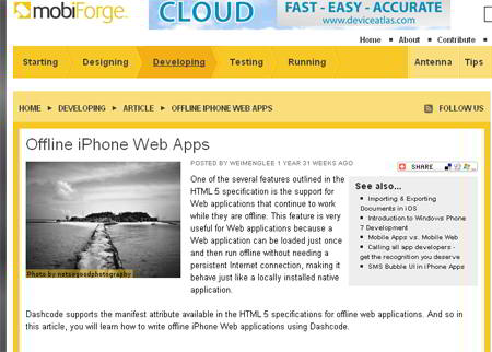Offline iPhone Web Apps