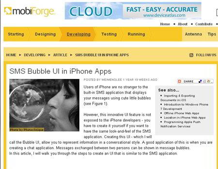 iPhone UI Bubbles