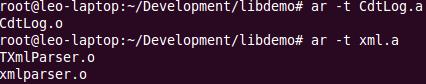 示例静态库文件