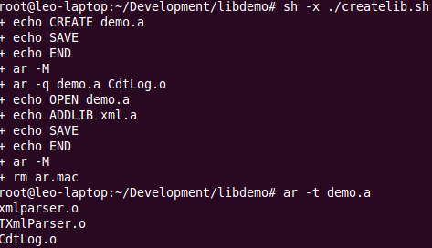 巧妙创建的静态库文件结果