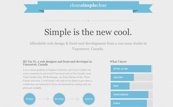 Clean Simple Clear