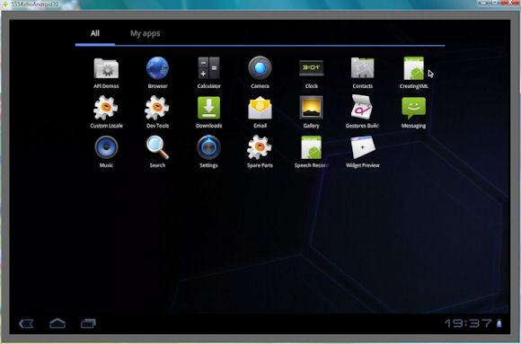 安装在 Android 设备上的应用程序的屏幕截图