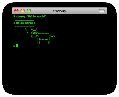 cowsay screenshot