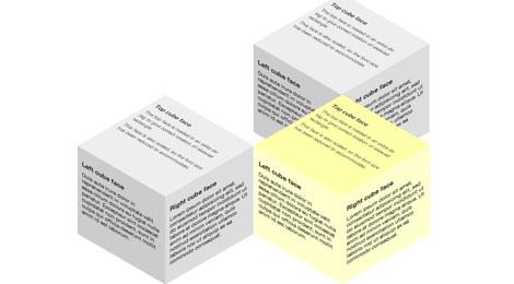 multiple 3d cubes
