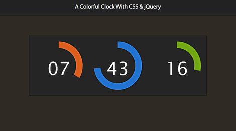 colorful clock