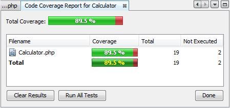 代码覆盖率报告