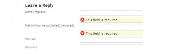 Adding form jquery validation wordpress