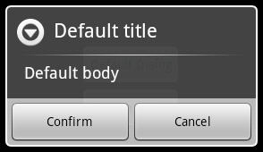 Android default Dialog