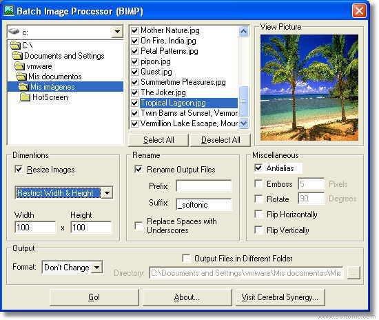 BIMP (Batch Image Processor)