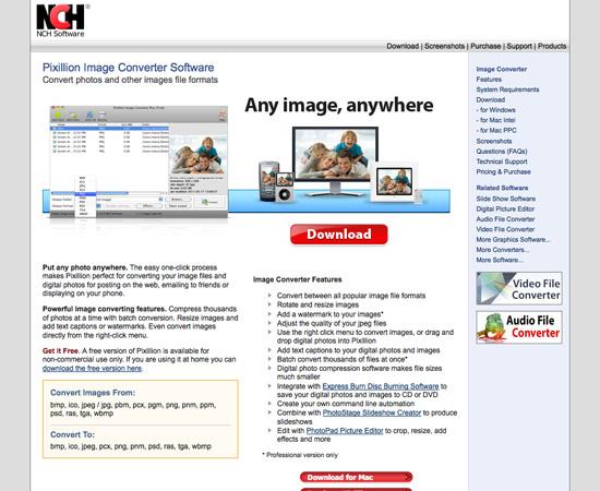 Pixillion Image Converter Software