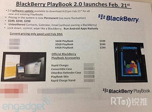 RIM将于下周二推出PlayBook 2.0系统